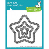 Набор ножей для вырубки Lawn Fawn OUTSIDE IN STITCHED STAR STACKABLES