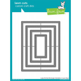 Набор ножей для вырубки Lawn Fawn LARGE STITCHED RECTANGLE STACKABLES