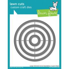 Набор ножей для вырубки Lawn Fawn LARGE STITCHED CIRCLE STACKABLES