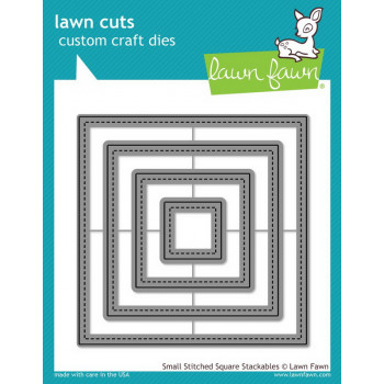 Набор ножей для вырубки Lawn Fawn SMALL STITCHED SQUARE STACKABLES