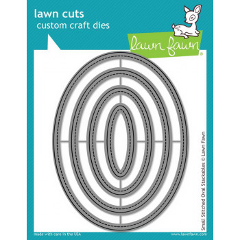 Набор ножей для вырубки Lawn Fawn SMALL STITCHED OVAL STACKABLES