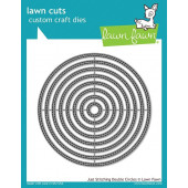 Набор ножей для вырубки Lawn Fawn JUST STITCHING DOUBLE CIRCLES