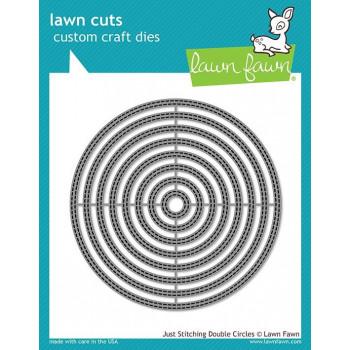 Набор ножей для вырубки Lawn Fawn JUST STITCHING DOUBLE CIRCLES