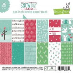 Набор бумаги для скрапбукинга Lawn Fawn SNOW DAY REMIX 15х15см