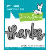Нож для вырубки Lawn Fawn SCRIPTY THANKS