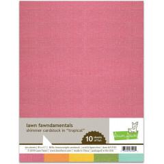 Набор бумаги с перламутром Lawn Fawn SHIMMER CARDSTOCK TROPICAL 21х27см