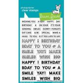 Набор штампов Lawn Fawn OFFSET SAYINGS: BIRTHDAY
