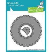 Набор ножей для вырубки Lawn Fawn MAGIC IRIS SCALLOPED ADD-ON