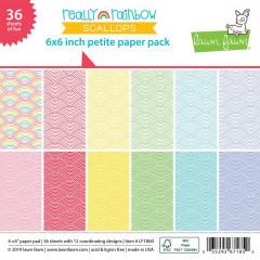 Набор бумаги для скрапбукинга Lawn Fawn REALLY RAINBOW SCALLOPS 15х15см