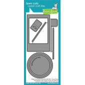 Набор ножей для вырубки Lawn Fawn MAGIC IRIS CAMERA PULL-TAB ADD-ON