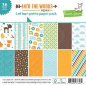 Набор бумаги для скрапбукинга Lawn Fawn INTO THE WOODS REMIX 15х15см