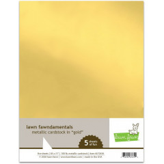 Набор кардстока металлик Lawn Fawn METALLIC CARDSTOCK GOLD 21х27см