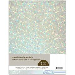 Набор кардстока металлик Lawn Fawn METALLIC CARDSTOCK HOLOGRAPHIC 21х27см