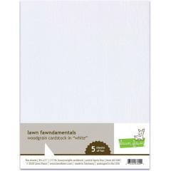 Набор бумаги с текстурой дерева Lawn Fawn WOODGRAIN CARDSTOCK WHITE 21х27см