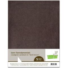 Набор бумаги с текстурой дерева Lawn Fawn WOODGRAIN CARDSTOCK DARK BROWN 21х27см