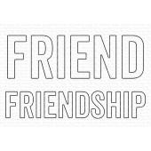 Набор ножей для вырубки My Favorite Things FRIEND and FRIENDSHIP