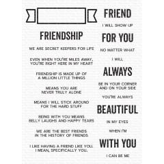 Набор штампов My Favorite Things WHAT FRIENDSHIP MEANS