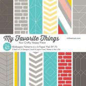 Набор бумаги для скрапбукинга My Favorite Things WALLPAPER PATTERNS 15х15см