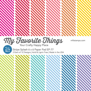 Набор бумаги для скрапбукинга My Favorite Things STRIPE SPLASH 15х15см