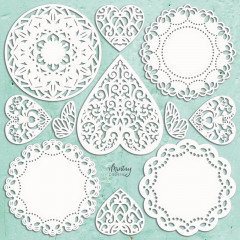 Набор чипборда Mintay Papers MINTAY CHIPPIES DOILIES SET 11 элементов