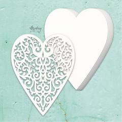Заготовка для альбома из чипборда Mintay Papers MINTAY CHIPPIES ALBUM BASE HEART 7 листов