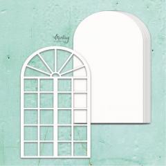 Заготовка для альбома из чипборда Mintay Papers MINTAY CHIPPIES ALBUM BASE WINDOW 7 листов