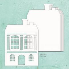 Заготовка для альбома из чипборда Mintay Papers MINTAY CHIPPIES ALBUM BASE HOUSE 7 листов