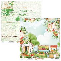 Лист бумаги для скрапбукинга Mintay Papers ЛИСТ 3 коллекция Country Fair 30х30см