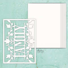 Заготовка для альбома из чипборда Mintay Papers MINTAY CHIPPIES ALBUM BASE FAMILY 7 листов