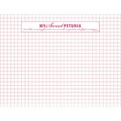 Сменный блок листов в клетку My Sweet Petunia ORIGINAL MISTI GRID PAPER PAD