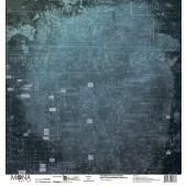 Лист бумаги для скрапбукинга MoNa design ПЕЧАТНЫЕ ПЛАТЫ коллекция Мастерская в конце улицы 30х30см