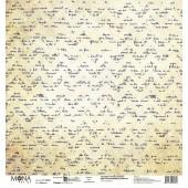Лист бумаги для скрапбукинга MoNa design ШЕВРОНЫ коллекция Мастерская в конце улицы 30х30см