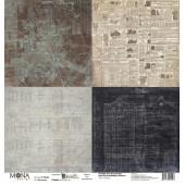Лист бумаги для скрапбукинга MoNa design МАСТЕРСКАЯ коллекция Мастерская в конце улицы 30х30см