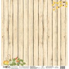 Лист бумаги для скрапбукинга MoNa design СОБИРАЕМ УРОЖАЙ коллекция Осенняя история 30х30см