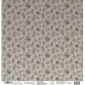 Лист бумаги для скрапбукинга MoNa design КРУЖИТ ЛИСТВА коллекция Осенняя история 30х30см