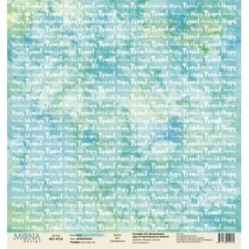 Лист бумаги для скрапбукинга MoNa design ADVENTURE коллекция Sea Party 30х30см