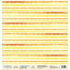 Лист бумаги для скрапбукинга MoNa design YELLOW STRIPS коллекция Sea Party 30х30см