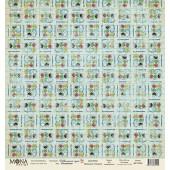 Лист бумаги для скрапбукинга MoNa design РИСОВАНИЕ коллекция Школьная пора 30х30см