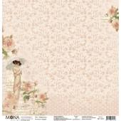 Лист бумаги для скрапбукинга MoNa design НЕЖНОСТЬ коллекция Будуар 30х30см