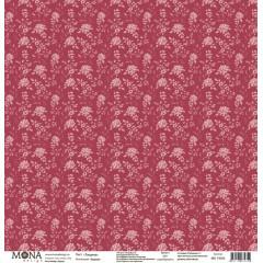 Лист бумаги для скрапбукинга MoNa design ТИШИНА коллекция Будуар 30х30см