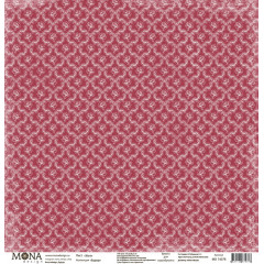 Лист бумаги для скрапбукинга MoNa design УЮТ коллекция Будуар 30х30см