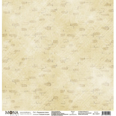 Лист бумаги для скрапбукинга MoNa design ГОРОДСКАЯ СТЕНА коллекция Городские истории 30х30см