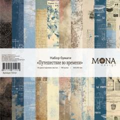 Набор бумаги для скрапбукинга MoNa design ПУТЕШЕСТВИЕ ВО ВРЕМЕНИ 30x30см