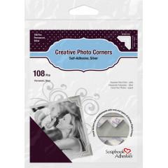 Самоклеящиеся уголки для фотографий Scrapbook Adhesives CREATIVE PHOTO CORNERS SILVER