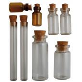 Набор бутылочек стеклянных с пробкой Vaessen Creative VINTAGE CORKED VIALS