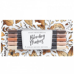 Набор маркеров на водной основе American Crafts BLENDING MARKERS Neutrals 5шт