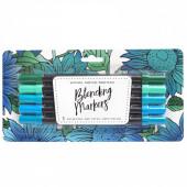 Набор маркеров на водной основе American Crafts BLENDING MARKERS Blue Green 5шт