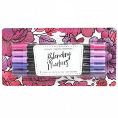 Набор маркеров на водной основе American Crafts BLENDING MARKERS Red Violet 5шт