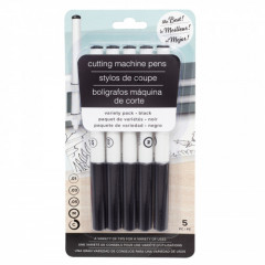 Набор маркеров для плоттера American Crafts CUTTING MACHINE PENS Variety Pack Black 5шт