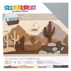 Набор кардстока с текстурой American Crafts PRECISION CARDSTOCK Neutral 30х30см